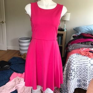 Cynthia Rowley Pink Sleeveless Skater Dress